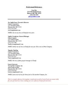 free resume reference page template how to title references page for resume personal space