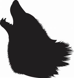 Howling Wolf Silhouette Clipart - Clipart Suggest
