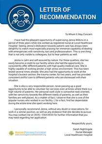 Sample Personal Letter of Recommendation for Nursing School