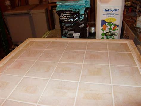 moulure cuisine fabrication d un plan de travail carrelé