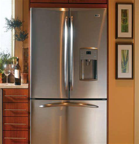 ge pfcsnjwss  cu ft counter depth french door refrigerator   glass shelves gallon