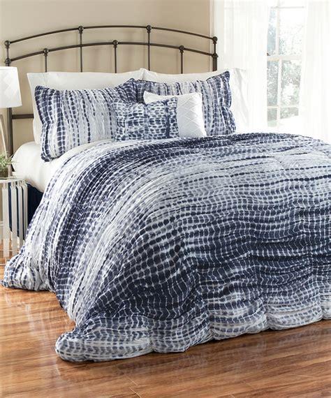 navy white tie dye comforter set modern comforters