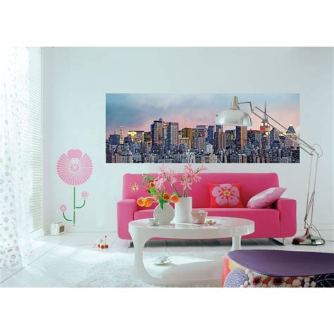 ideal decor 50 in x 144 in new york skyline wall mural dm370 the home depot