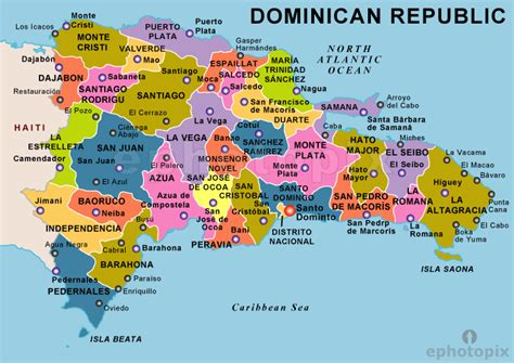dominican republic map travelsfinderscom