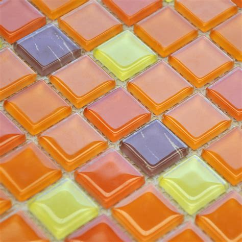 glass mosaic tiles kitchen backsplash design
