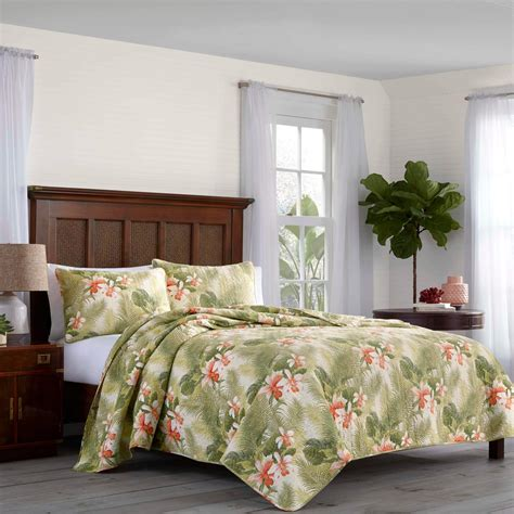 Bahama Coverlets by Nip Bahama Tropical Orchid 3 Quilt Set King