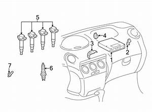 Toyota Echo Engine Control Module  Auto Trans  From 7  01