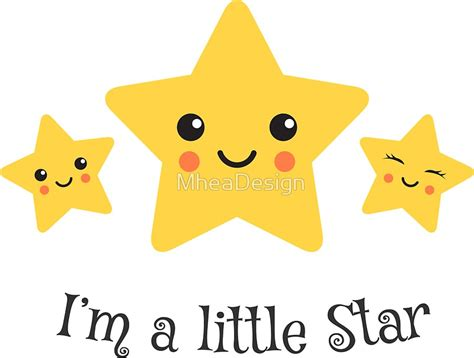 quot i 39 m a little star cute sticker with kawaii style stars quot stickers by mheadesign redbubble