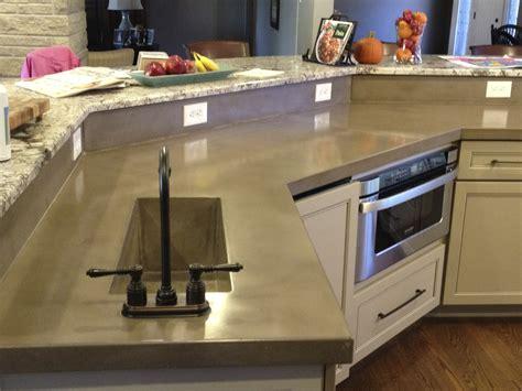 concrete countertops provide a unique alternative to