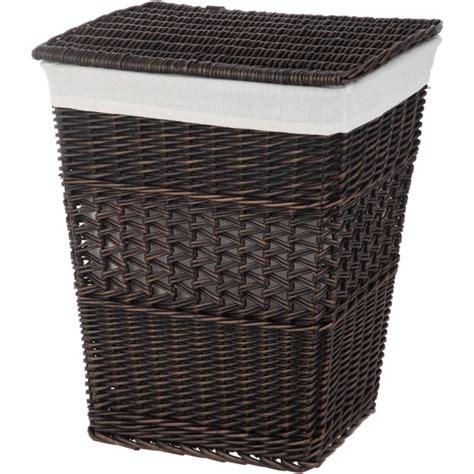 wicker laundry basket with lid best better homes and gardens rectangle wicker her 1897