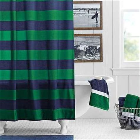 rugby shower curtain pottery barn