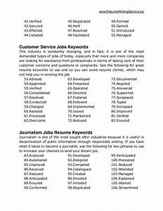 ultimate list of 500 resume keywords With list of keywords for federal resumes