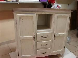 Meuble Shabby Chic : meuble shabby chic la renovation de meubles sans le decapage ~ Teatrodelosmanantiales.com Idées de Décoration