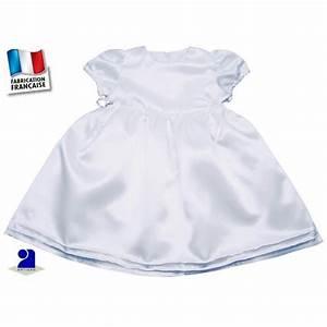 robe bapteme satin blanc bebe 18 mois bambinweb achat With robe bapteme 18 mois