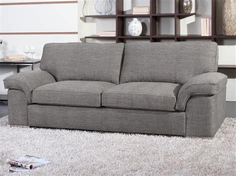 canapé 3 places tissu gris canapé fixe tissu quot shirley quot 3 places gris 54022 54025