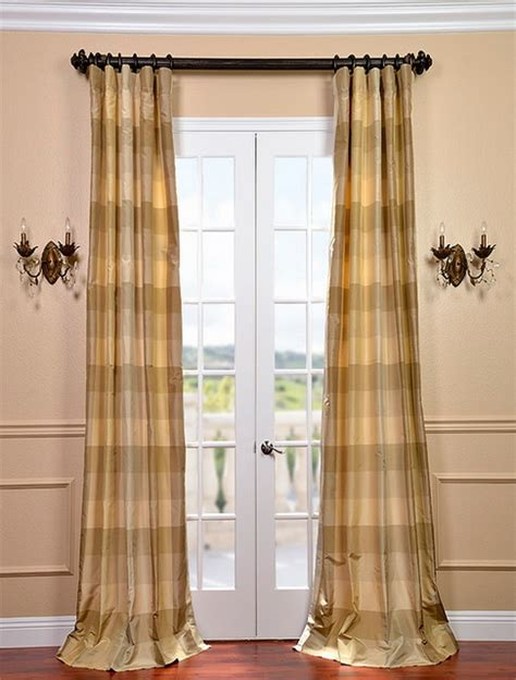 Plaid Drapery Panels by Newman Silk Taffeta Plaid Curtain Contemporary