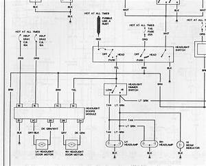 87-92 Firebird Headlight Wiring Diagram