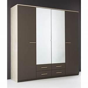 Armoire 6 Portes : armoire penderie rangement moderne 4 portes panel meuble ~ Teatrodelosmanantiales.com Idées de Décoration