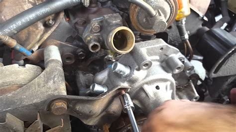 Water Pump Install Ford Youtube