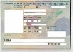 Blank UK Passport Inside