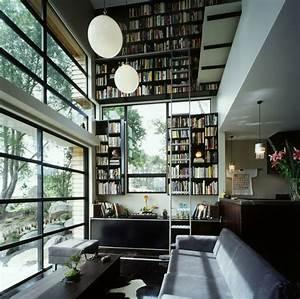 Grande Bibliothèque Murale : design interieur biblioth que moderne murale chelle ~ Teatrodelosmanantiales.com Idées de Décoration