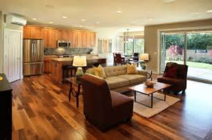 open floor plan kitchen and living room how to style an open plan living space