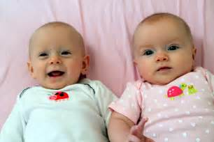Cute Newborn Babies Girls Twins