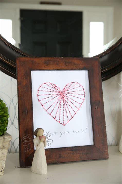 Heart String Art Decor  The Idea Room