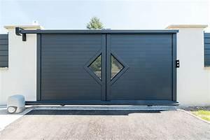 Portail Coulissant Sur Rail : portail aluminium epinal vittel mercier david ~ Edinachiropracticcenter.com Idées de Décoration