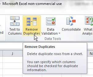 how to remove duplicates from an excel 2010 sheet solve your tech