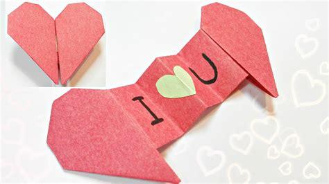 diy  origami valentine heart envelope love secret