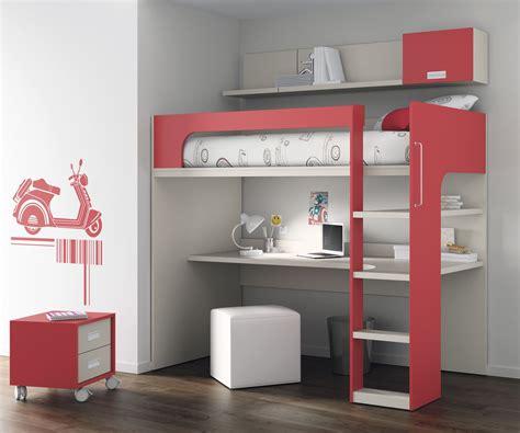 lit avec bureau lit mezzanine avec bureau pour enfant mixte touch 69