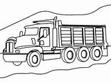 Dump Coloring Truck Pages Road Trucks Mountain Cool Axle Awesome Template Printable Construction Warm Getcoloringpages Most Clipart sketch template