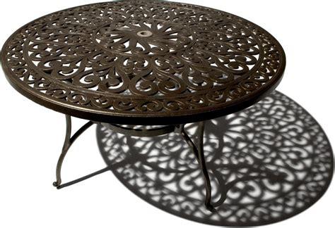 cast aluminum patio table strathwood st thomas cast aluminum round dining table