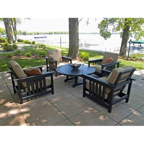 polywood patio furniture reviews photos polywood 174 mission chat set pw mission set3