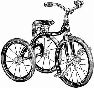 Adorable Vintage Tricycle Image! - The Graphics Fairy