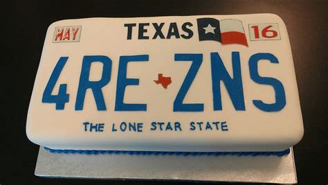 texas license plate cake flickr photo sharing