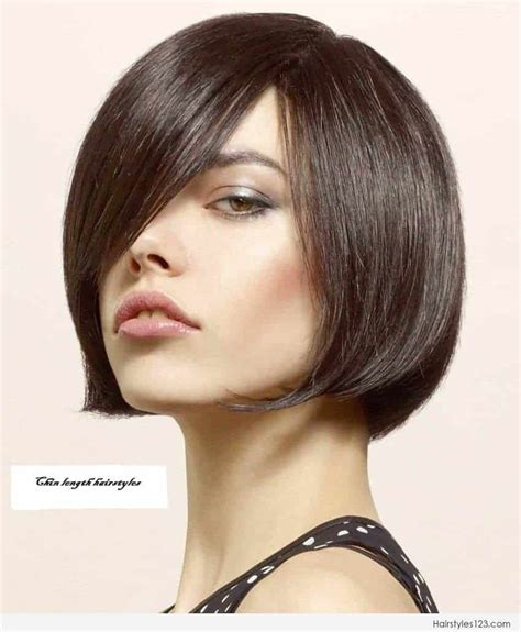 chin length bob hairstyles chin length hairstyles for thick hair womenstyles