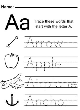 trace  letter  worksheet  images alphabet
