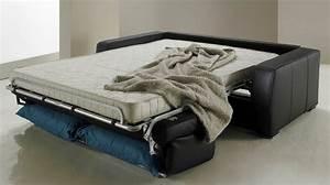 canape lit rapido en cuir de vachette pas cher With canapé lit rapido pas cher