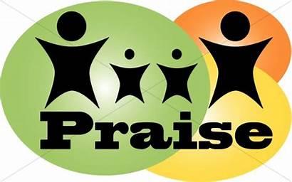 Praise Clipart Woman God Silhouette Colorful Praisers