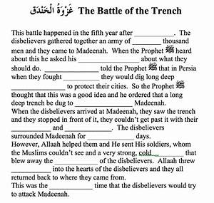 Battle Of The Trench Worksheet  U2013 Safar Resources