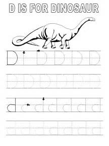 Tracing Letter D Coloring Pages