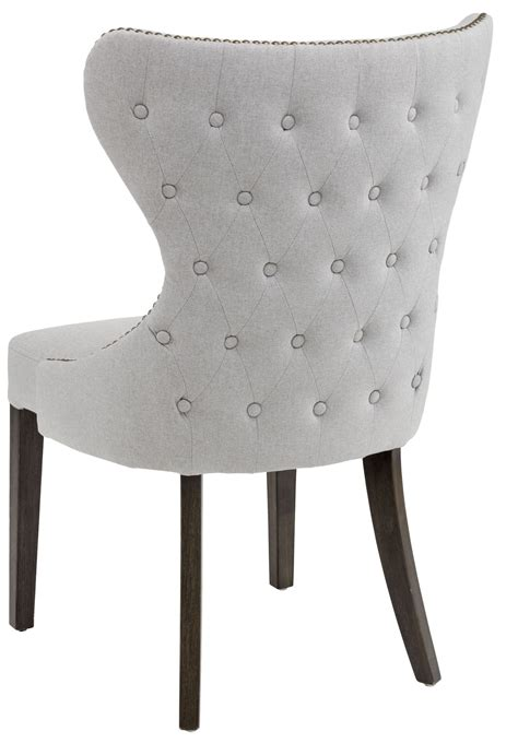 light grey fabric dining chair 101150 sunpan