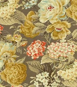 Home Decor Print Fabric- Waverly Floral Flourish Clay JOANN