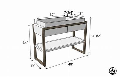 Changing Table Dimensions Plans Modern Diy Height