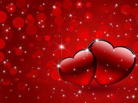 dos corazones rojos fondo rojo todo rojo pinterest