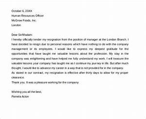 best of sample letters resignation letter format html