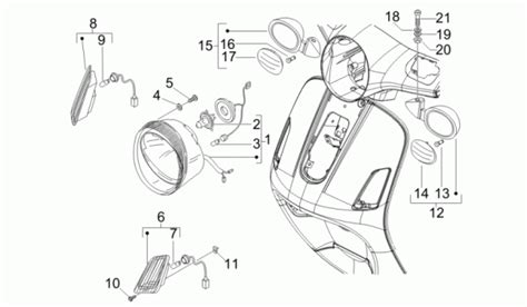 Vespa Lx 150 Wiring Diagram by Vespa Lx 150 4t 2009 Usa Front Headls Turn Signal