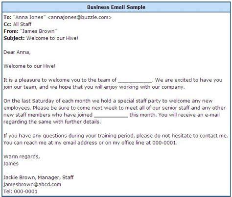 proper business email format  sample professional